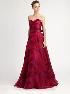 Theia - Strapless Silk Organza Ball Gown