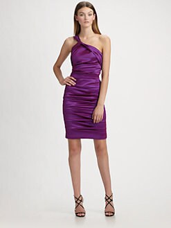 Theia - Stretch Taffeta Dress