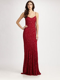 Theia - Sequined Slip Gown