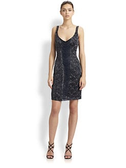 Theia - Beaded Deco Dress