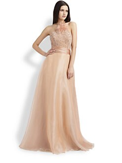 Theia - Beaded Organza Gown