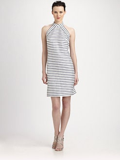 Theia - Striped Cocktail Dress