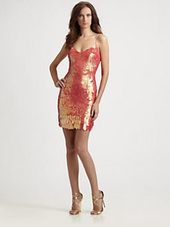 Theia - Paillette Slip Dress
