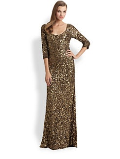 Theia - Sequined Gown
