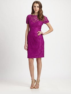 Theia - V-Back Lace Dress