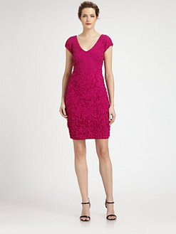 Theia - Laser-Cut Petal Dress