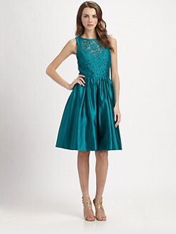 Theia - Lace & Satin Dress