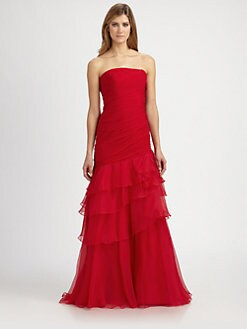 Theia - Silk Chiffon Gown