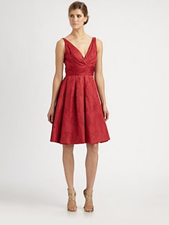 Theia - Jacquard Party Dress