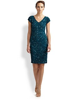 Theia - Beaded Cocktail Dress