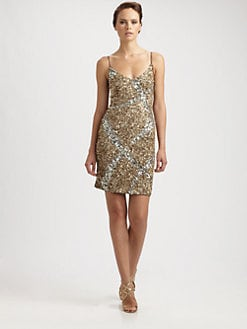 Theia - Sequin Slip Dress