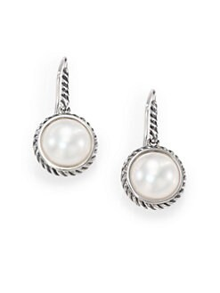 David Yurman - Pearl & Sterling Silver Drop Earrings