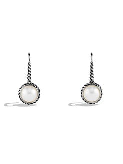 David Yurman - Cable Pearl Drop Earrings