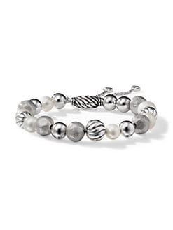 David Yurman - Pearl & Sterling Silver Beaded Bracelet