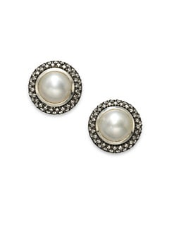 David Yurman - Diamond Accented Mabe Pearl Earrings