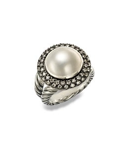 David Yurman - Diamond Accented White Mabe Pearl Ring
