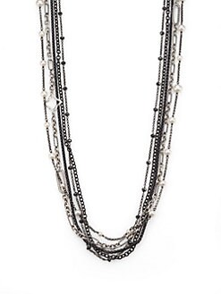David Yurman - Semi-Precious Multi-Stone & Sterling Silver Multi-Chain Necklace