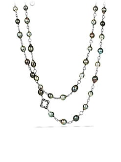 David Yurman - Diamond Accented Tahitian Pearl Necklace