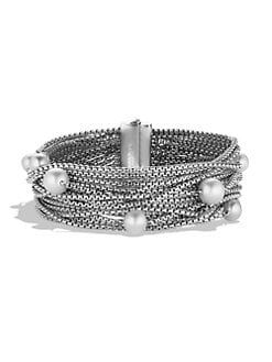 David Yurman - Pearl & Sterling Silver Box Chain Bracelet