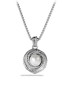David Yurman - Pearl & Diamond Pendant Necklace