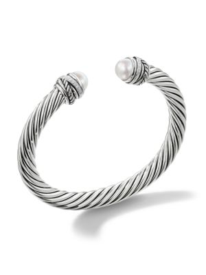 DAVID YURMAN | Crossover Bracelet With Pearls And Diamonds | Goxip