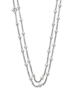 David Yurman - Pearl and Sterling Silver Chain Necklace