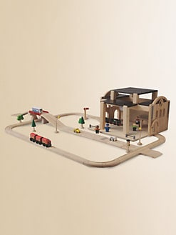 PlanToys - Road & Railway Set