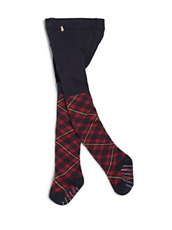 Ralph Lauren - Infant's Ribbed Plaid Tights