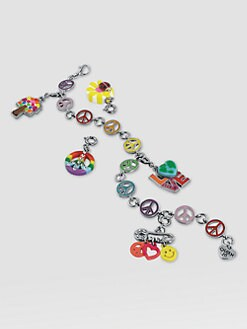 CHARM IT! - Girl's Six-Piece Peace Bracelet & Charms Gift Set