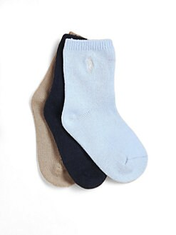 Ralph Lauren - Infant's Cotton Crew Socks/3 Pairs