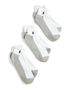 Ralph Lauren - Kid's Quarter Top Socks 3-Pack