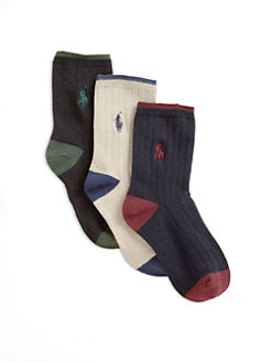 Ralph Lauren - Toddler & Little Boy's Dress Socks 3-Pack
