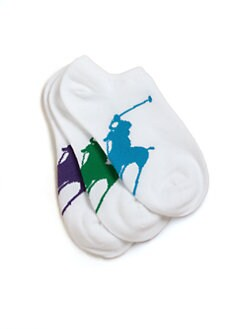 Ralph Lauren - Kid's Big Pony Ankle Socks/3 Pairs