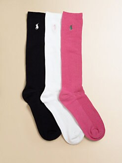 Ralph Lauren - Girl's Knee-High Socks/3 Pairs