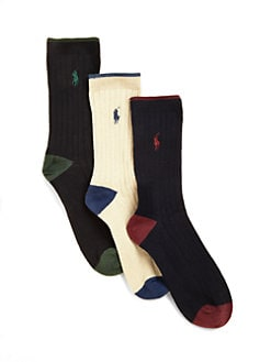 Ralph Lauren - Boy's Dress Socks 3-Pack