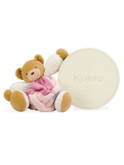 Kaloo - Bright Pink Patch Bear