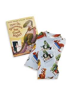 Books To Bed - Toddler's & Little Kid's Three-Piece How Do Dinosaurs Say Goodnight PJ & Book Set