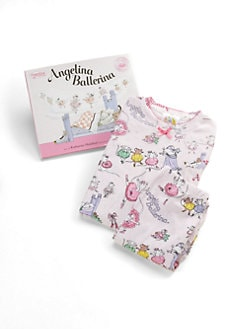Books To Bed - Toddler's & Little Girl's Angelina Ballerina PJs & Book Set
