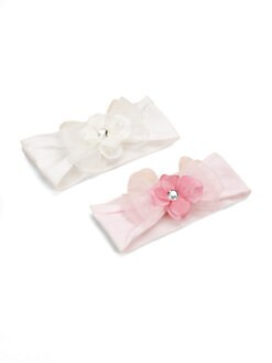 Baby Bling - Infant's 2-Piece Flower & Bow Headband Gift Set