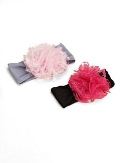 Baby Bling - Infant's 2-Piece Lace Pom-Pom Headband Gift Set
