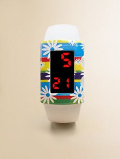 Popochos - Girl's White Watch with Flower Cover