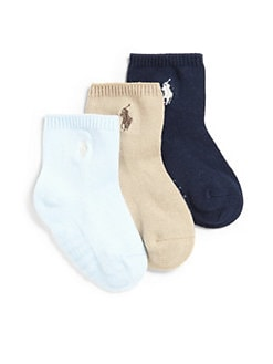 Ralph Lauren - Infant's Crew Socks/3-Pack