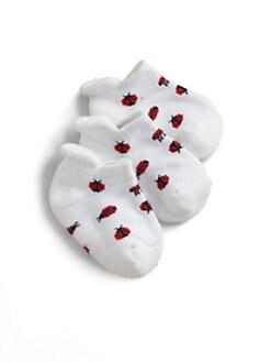 Ralph Lauren - Infant's Ladybugs Ankle Socks/3-Pack