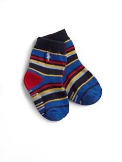 Ralph Lauren - Infant's Multicolor Striped Crew Socks