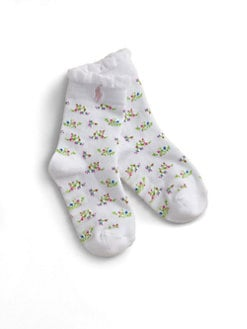 Ralph Lauren - Toddler's & Little Girl's Floral Trouser Socks