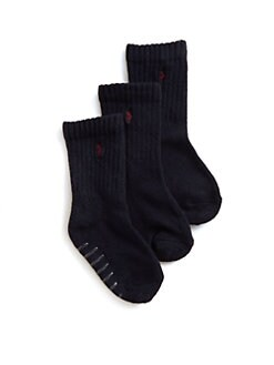 Ralph Lauren - Toddler's & Little Boy's Sport Crew Socks/3-Pack