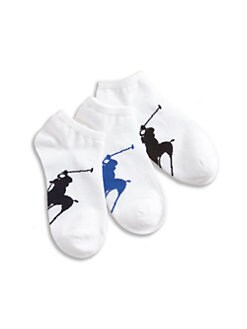 Ralph Lauren - Toddler's & Boy's Big Pony Ankle Socks/3-Pack