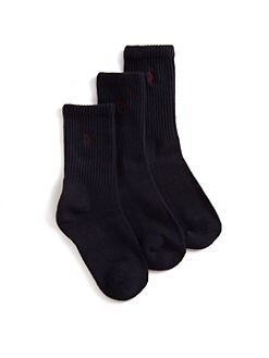 Ralph Lauren - Toddler's & Little Boy's Casual Sport Crew Socks/3-Pack