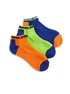 Ralph Lauren - Toddler's & Little Boy's Tech Ankle Socks/3-Pack
