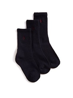 Ralph Lauren - Boy's Casual Sport Crew Socks/3-Pack
